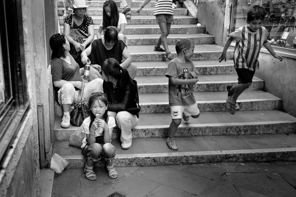 Girl eating ice cream - Venice