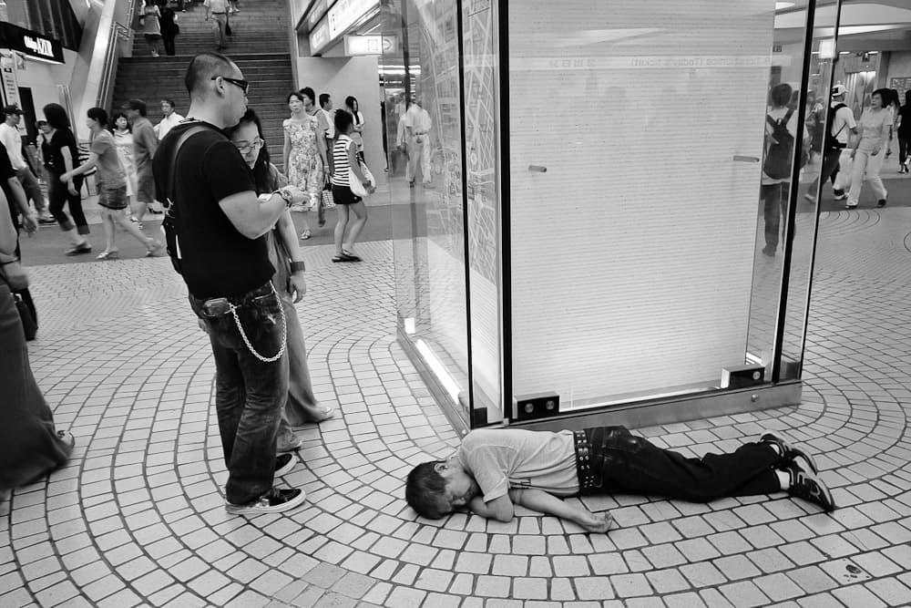 Sleeping man - Tokyo