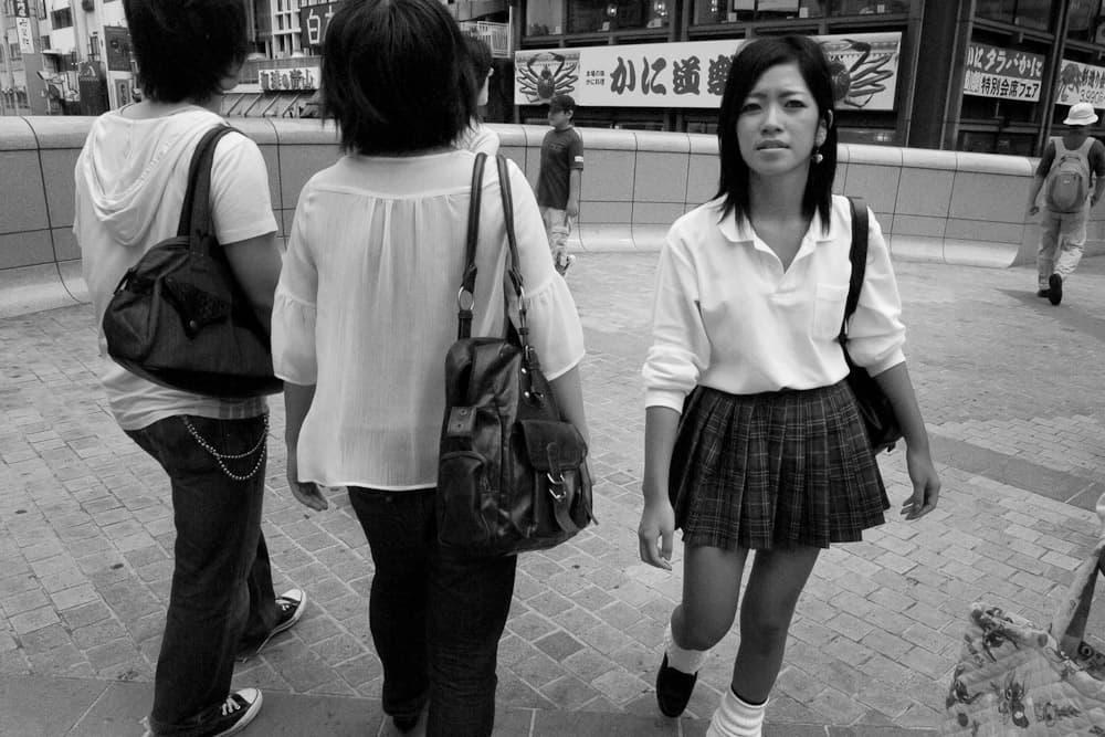 Schoolgirl - Dontonbori Bridge, Osaka